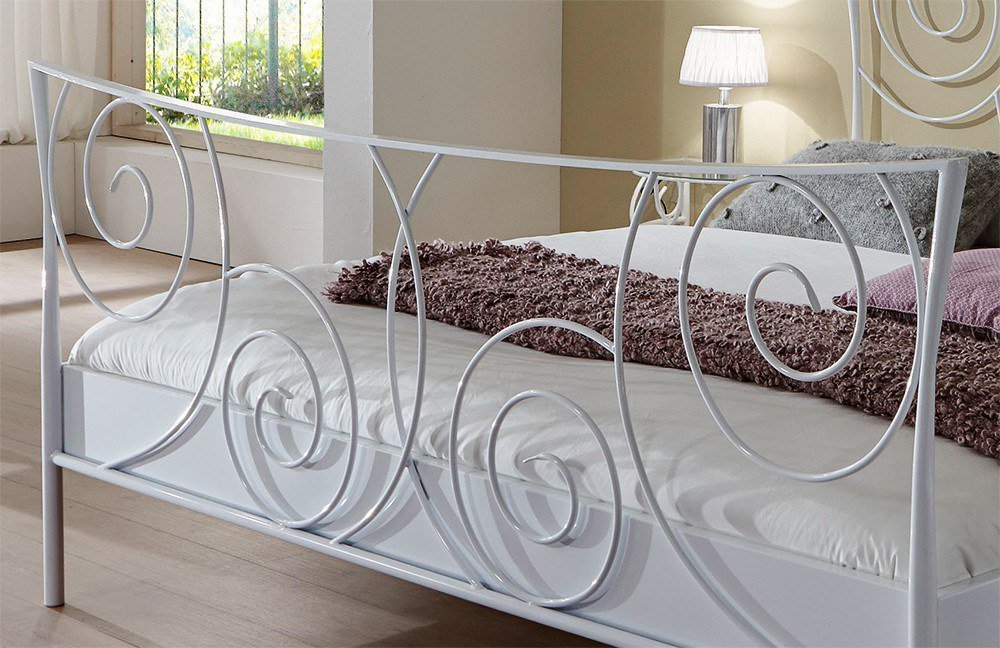 Metallbett weiß  Dico Möbel Parma 243.00 Metallbett weiß | Möbel Letz - Ihr Online-Shop