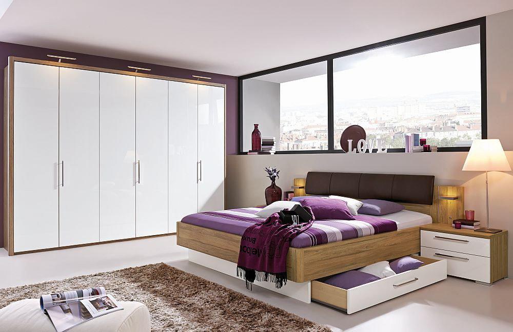 Zamaro von Loddenkemper - Schlafzimmer Eiche Volano - weiß