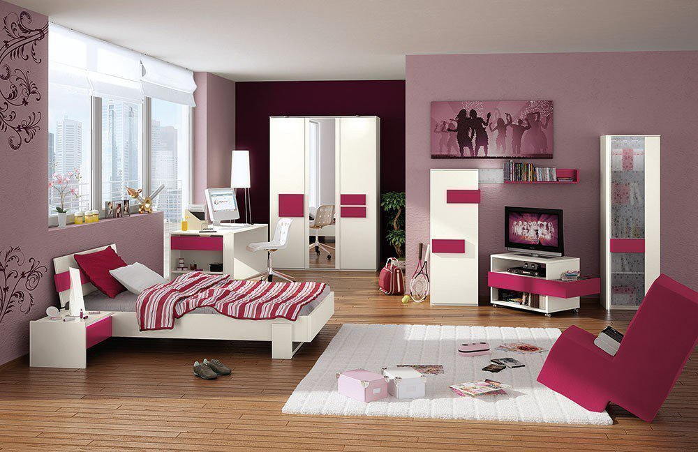 R hr bush hilight jugendzimmer wei fuchsia m bel letz for Jugendzimmer planen