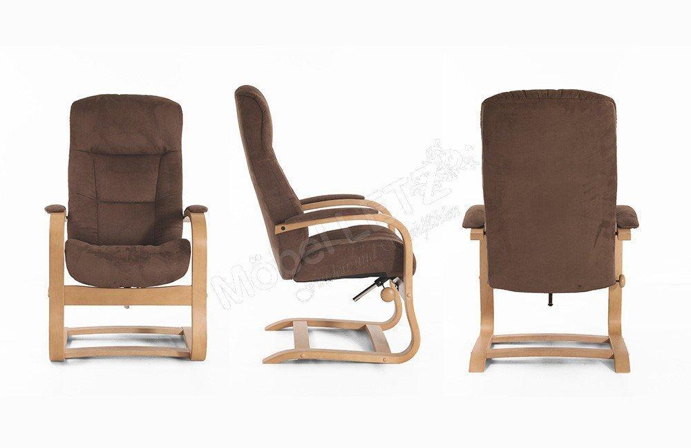 ohrensessel mit hocker braun fabulous supellex ohrensessel sofia mit hocker dessin kunstleder. Black Bedroom Furniture Sets. Home Design Ideas