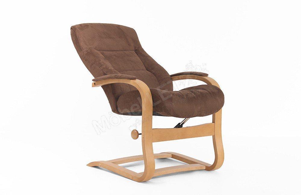 herbi sessel mit hocker von furnitrend in braun m bel. Black Bedroom Furniture Sets. Home Design Ideas