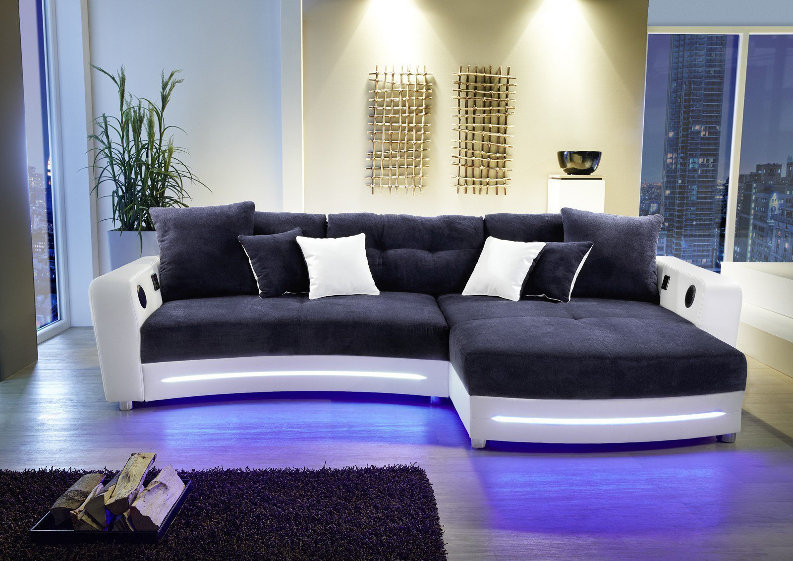 laredo von jockenh fer ecksofa blau wei m bel letz. Black Bedroom Furniture Sets. Home Design Ideas