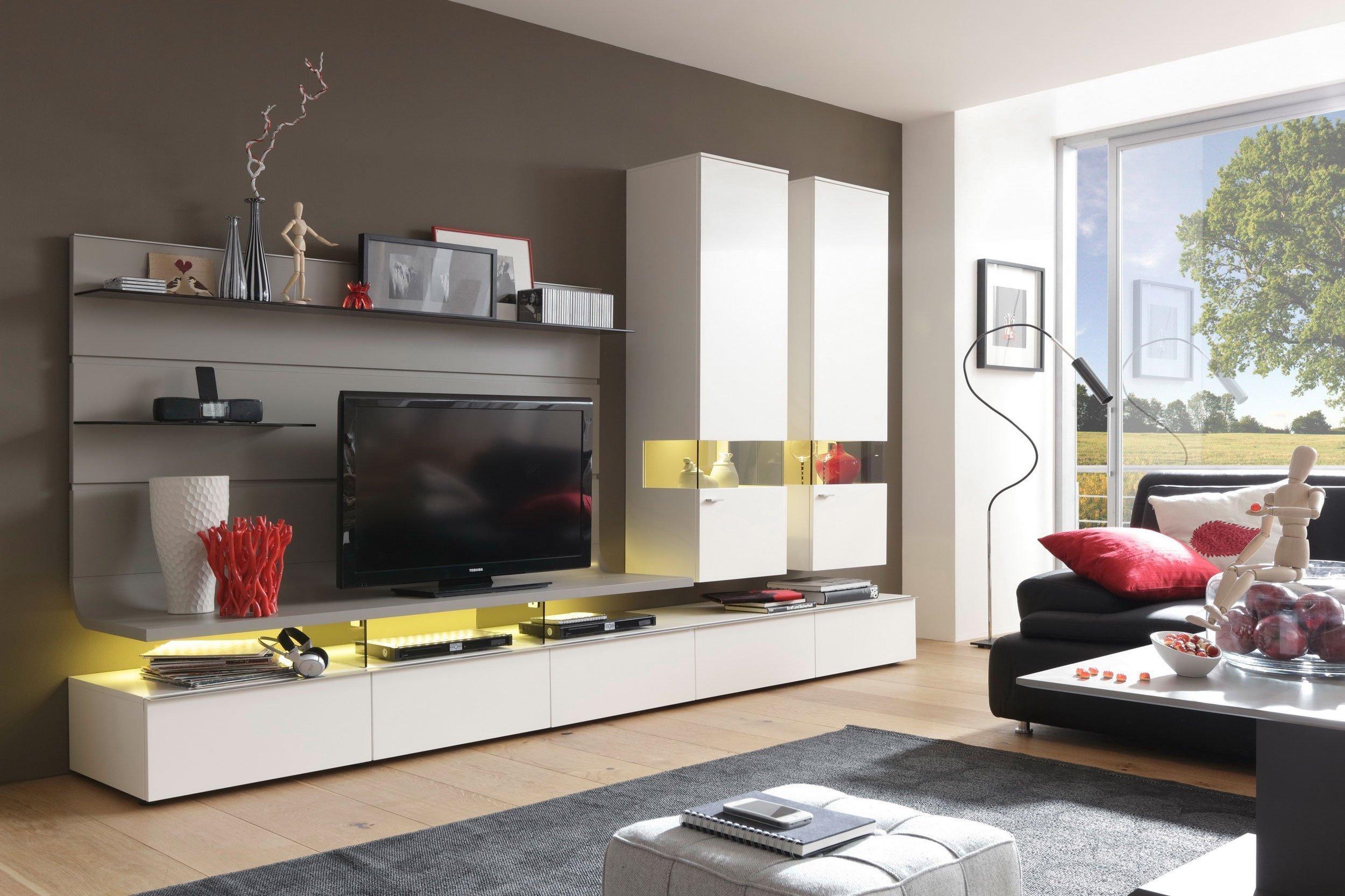 gwinner wohnwand felino fe31 lack wei fango m bel letz. Black Bedroom Furniture Sets. Home Design Ideas