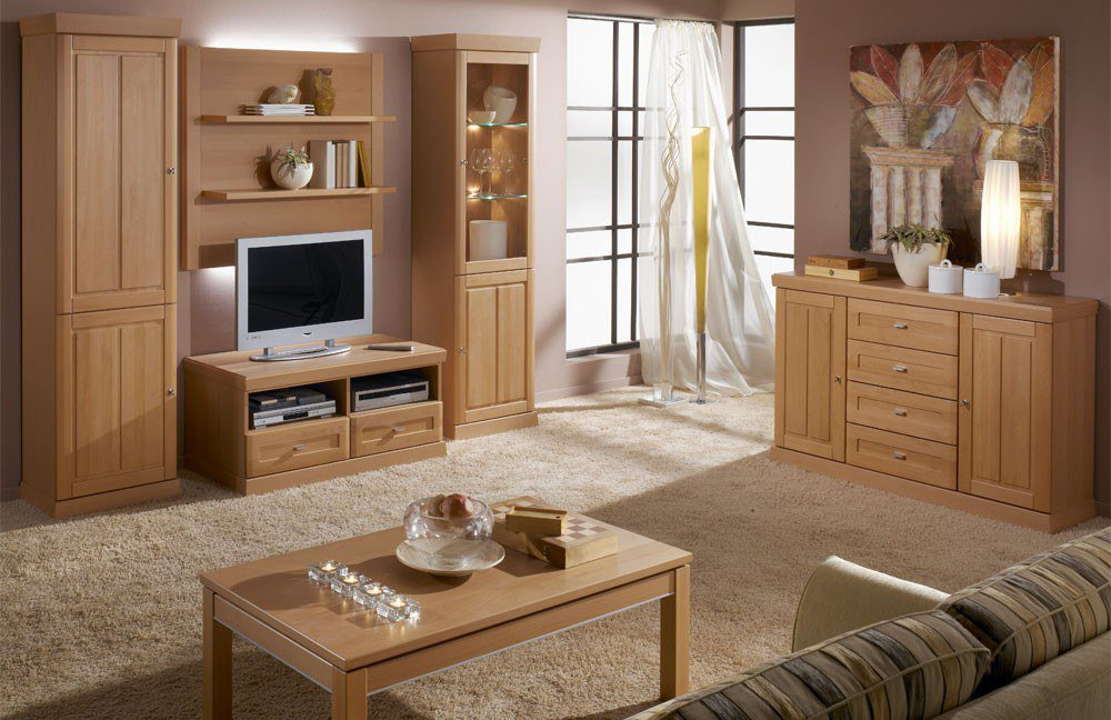 schr der m bel wohnwand heritage v8 buche m bel letz ihr online shop. Black Bedroom Furniture Sets. Home Design Ideas
