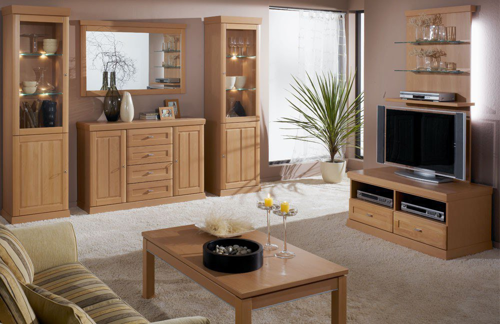 schr der m bel wohnwand heritage v15 buche m bel letz ihr online shop. Black Bedroom Furniture Sets. Home Design Ideas