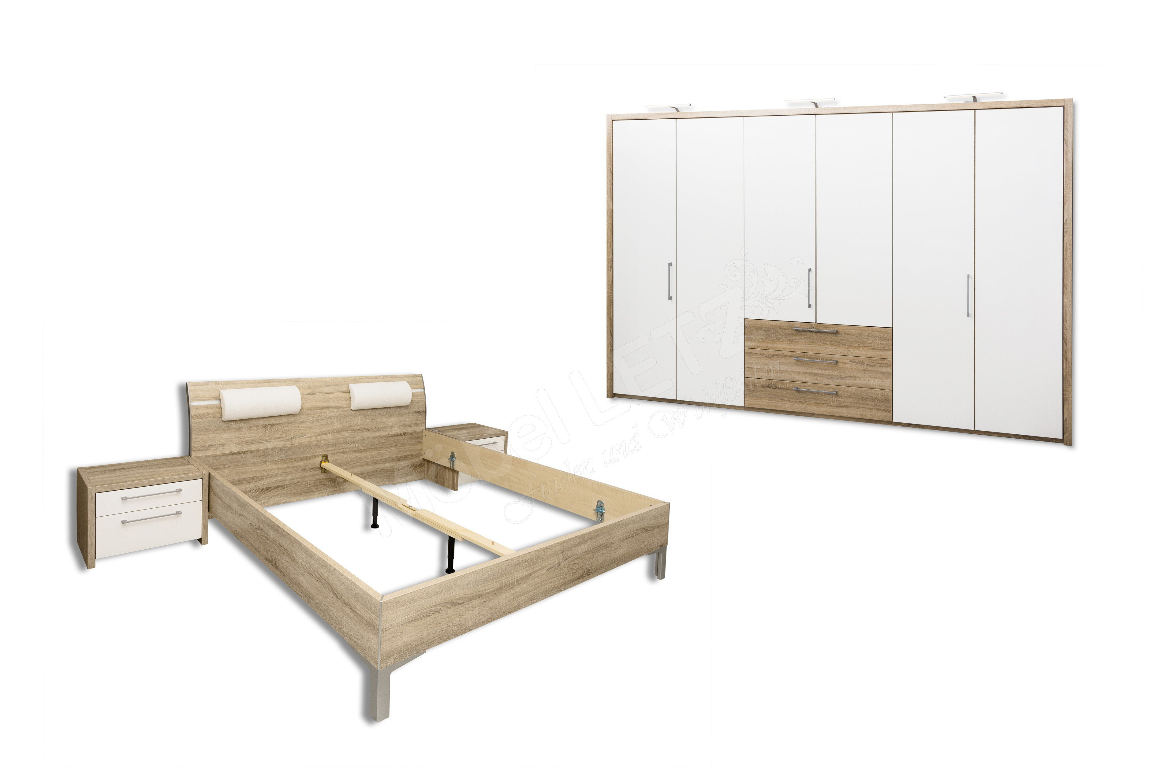 ... Schlafzimmer Mit Aufbau By Loddenkemper Eiche Wei 223 M 246 Bel Letz  Ihr ...