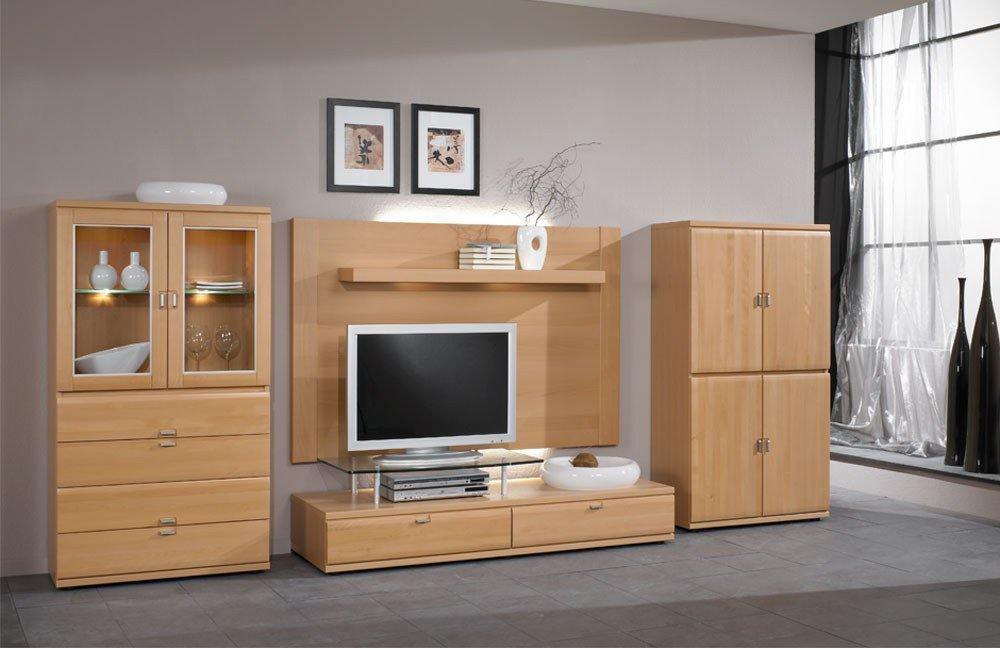 schr der m bel wohnwand mistral v13 buche m bel letz ihr online shop. Black Bedroom Furniture Sets. Home Design Ideas