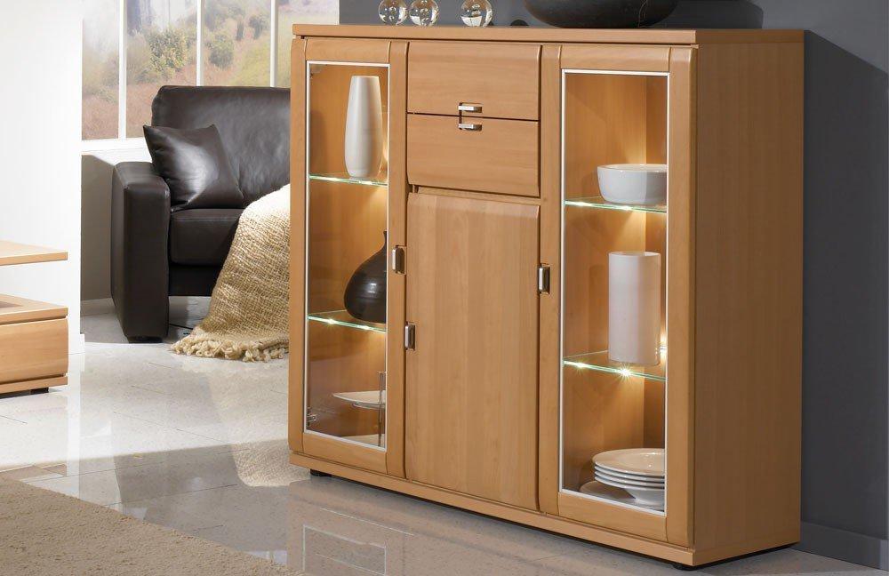 schr der m bel wohnwand mistral v15 buche m bel letz ihr online shop. Black Bedroom Furniture Sets. Home Design Ideas