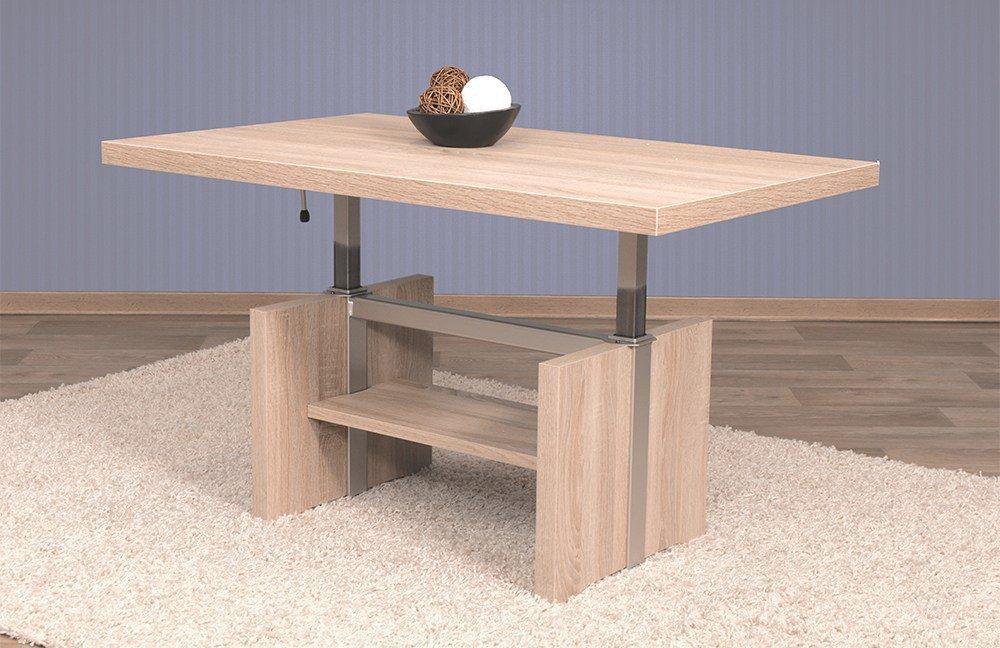 eiche sand couchtisch hohenverstellbar. Black Bedroom Furniture Sets. Home Design Ideas