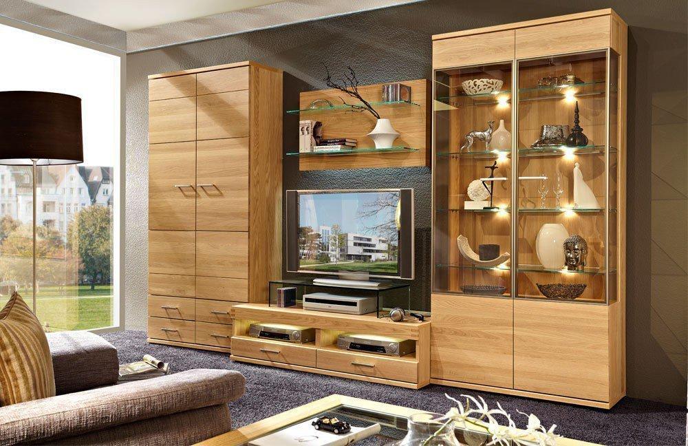 schr der m bel wohnwand cara v20 eiche natur m bel letz ihr online shop. Black Bedroom Furniture Sets. Home Design Ideas