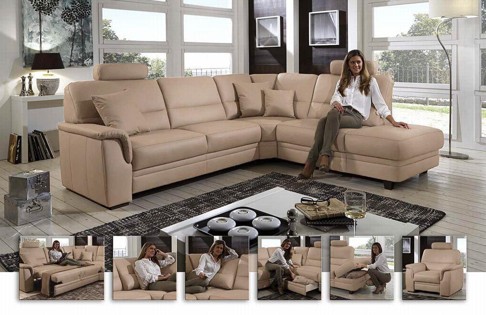 polinova duo ledergarnitur artischocke m bel letz ihr online shop. Black Bedroom Furniture Sets. Home Design Ideas