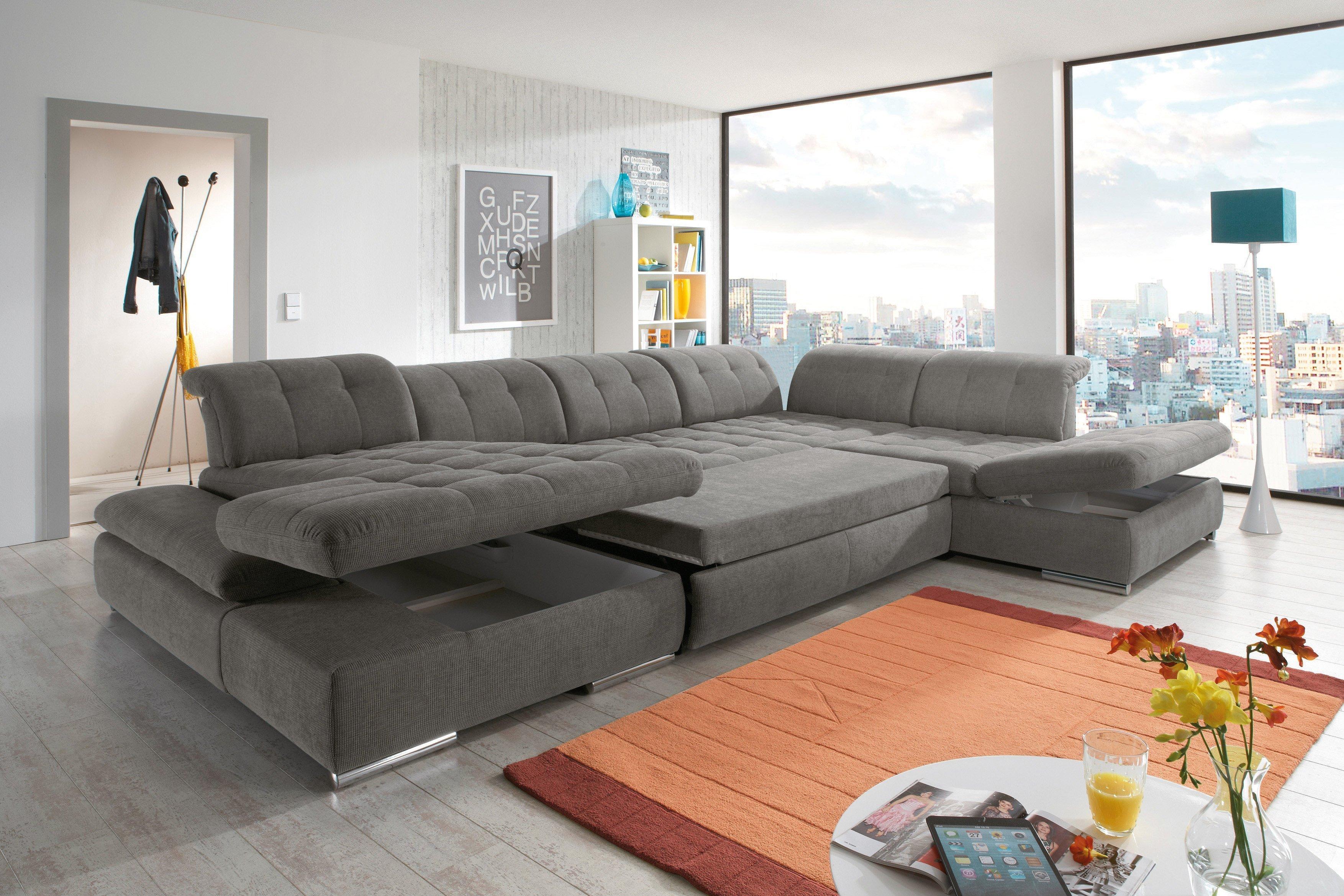 poco wohnlandschaft houston in grau m bel letz ihr online shop. Black Bedroom Furniture Sets. Home Design Ideas