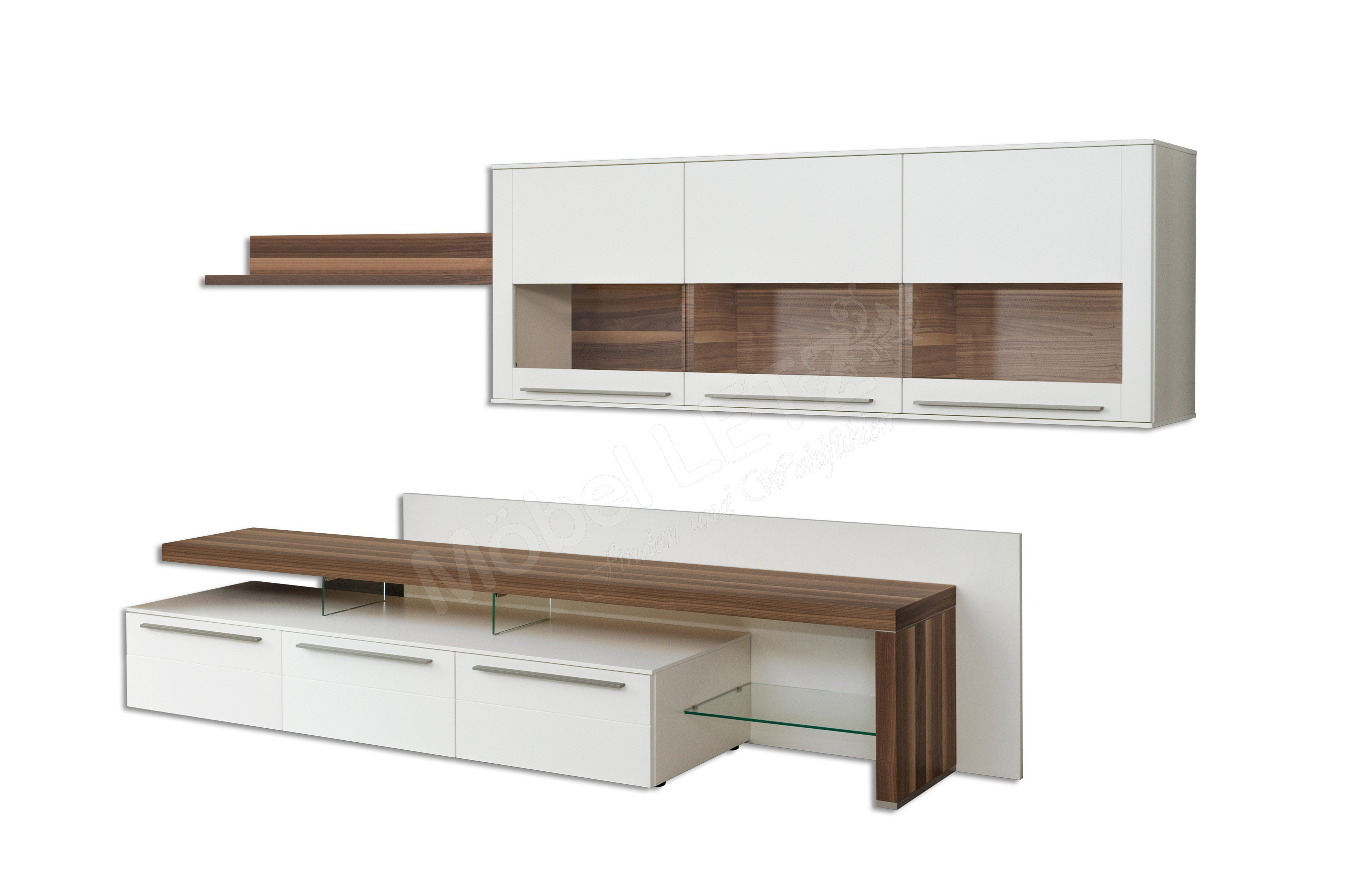 gwinner wohnwand bellano be30 mit beleuchtung m bel letz. Black Bedroom Furniture Sets. Home Design Ideas