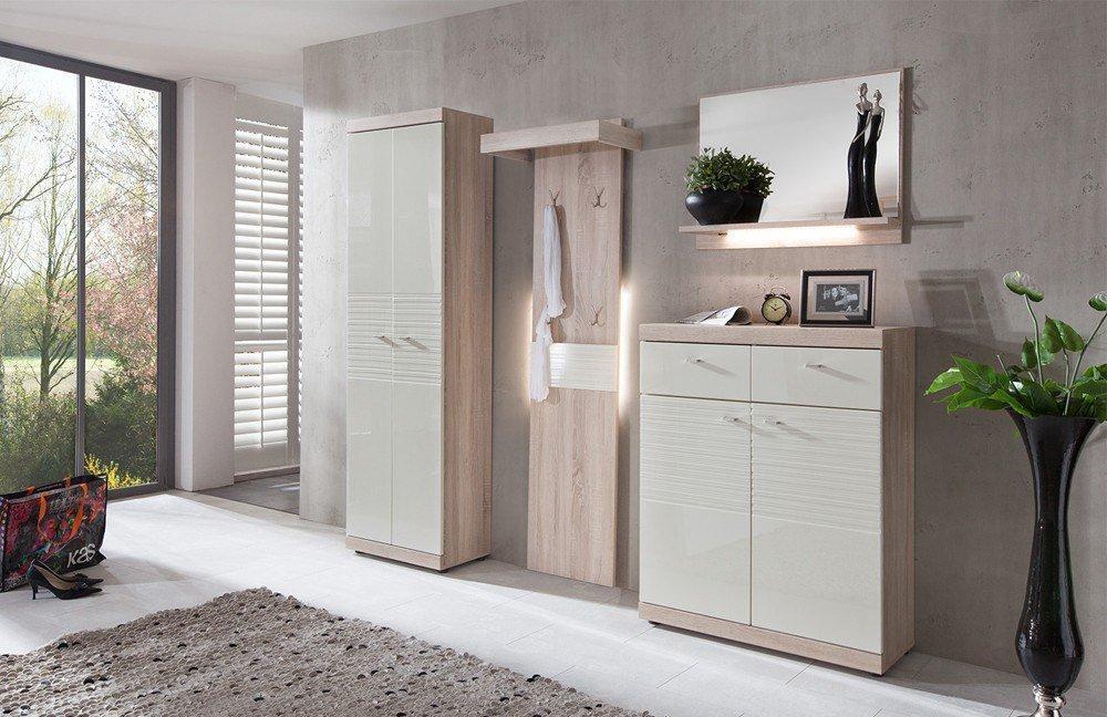 garderobe spot wei eiche sonoma von forestdream m bel. Black Bedroom Furniture Sets. Home Design Ideas