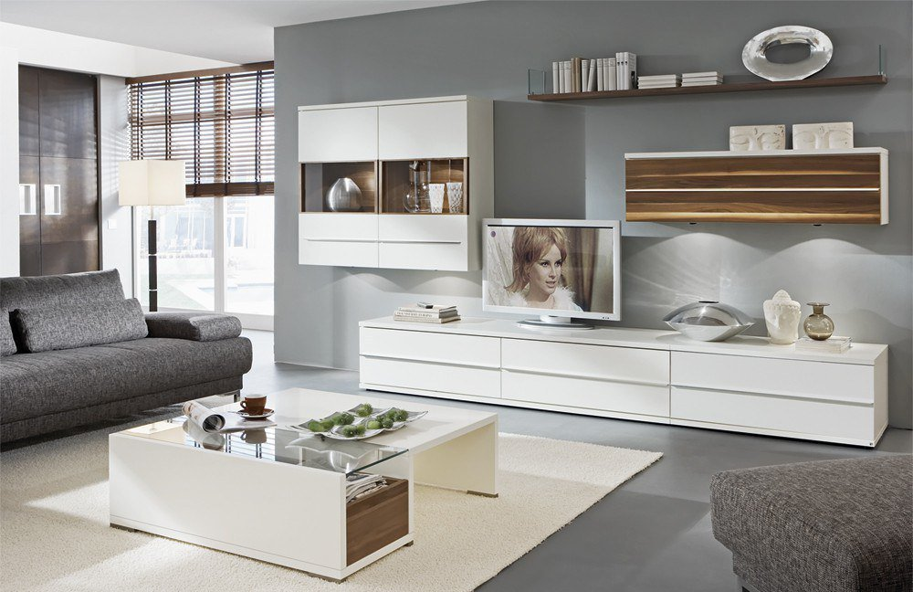 loddenkemper kito wohnwand 9837 caruba nuss wei m bel letz ihr online shop. Black Bedroom Furniture Sets. Home Design Ideas