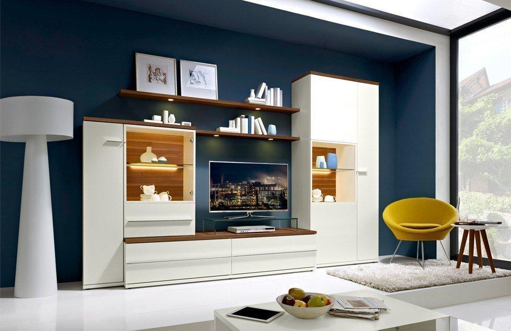Esstisch Caruba Nuss ~ Wohnwand Modena 9755 Weiß Caruba Nuss von Loddenkemper  Möbel Letz  Ihr On
