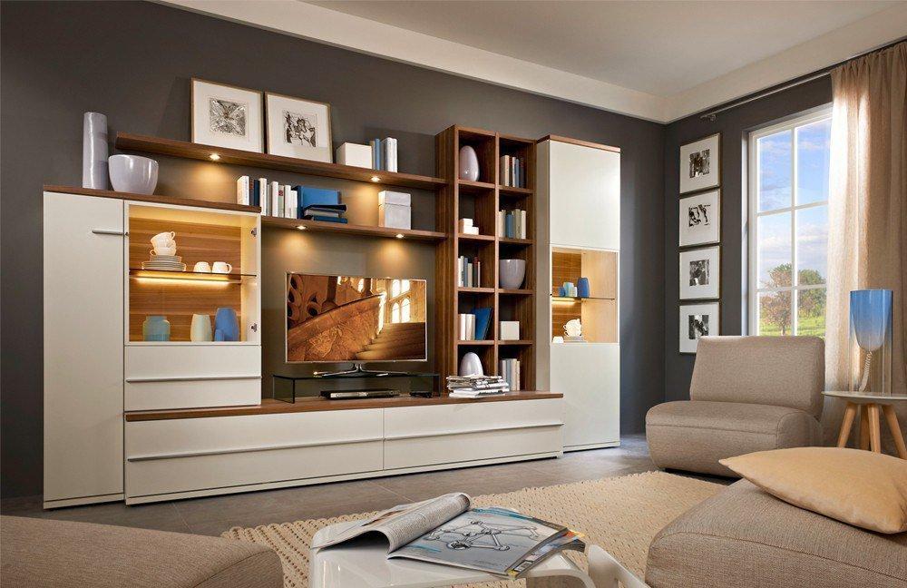 Esstisch Caruba Nuss ~ Wohnwand Modena 9763 Weiß Nuss von Loddenkemper  Möbel Letz  Ihr OnlineShop