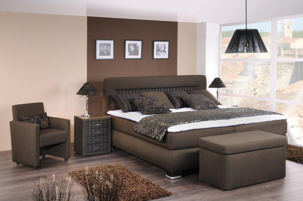 oschmann boxspringbett prestige im harmonischen braun uni gestreift m bel letz ihr online shop. Black Bedroom Furniture Sets. Home Design Ideas