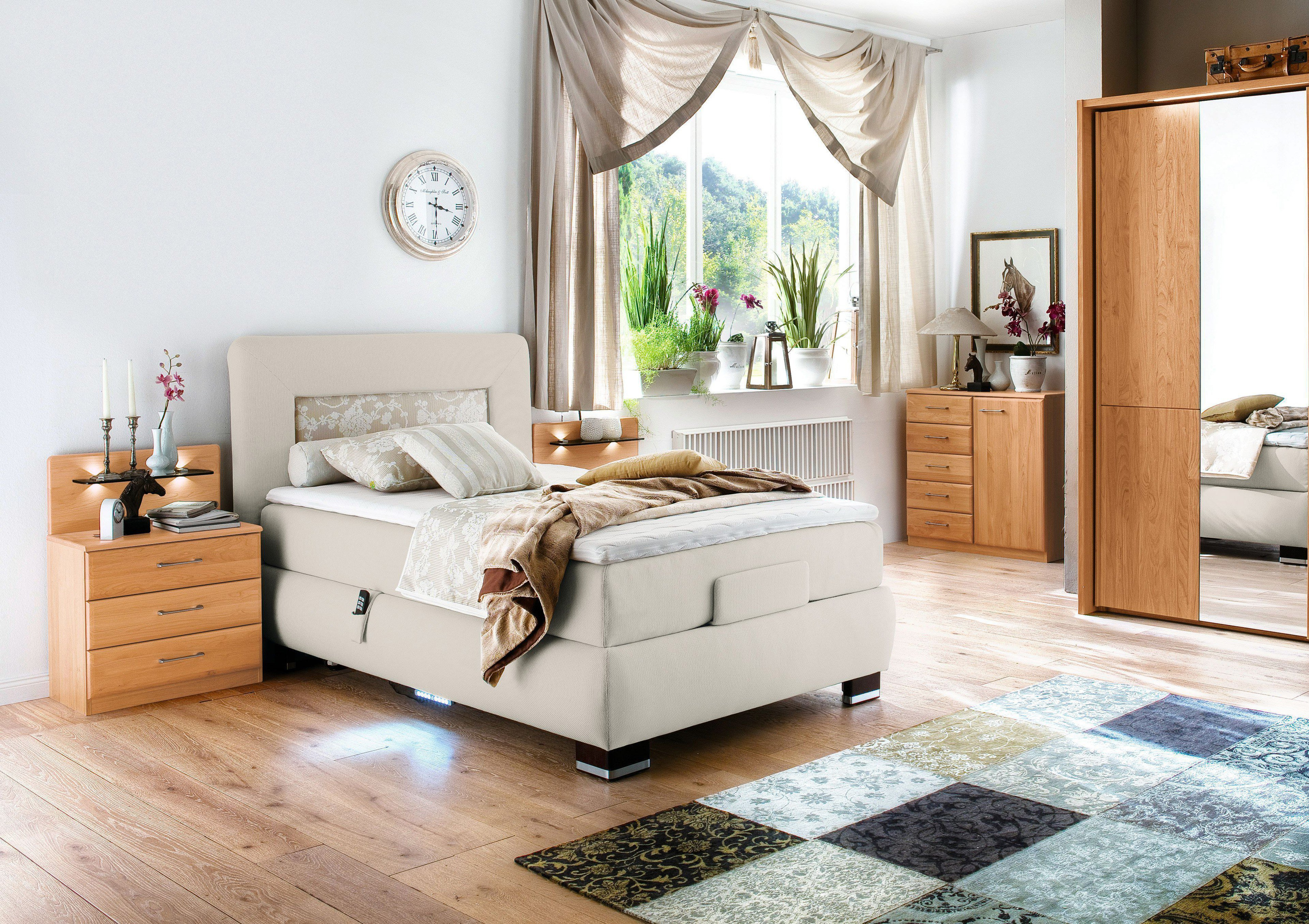 boxspringbett xl motor prestige von oschmann in beige m bel letz ihr online shop. Black Bedroom Furniture Sets. Home Design Ideas