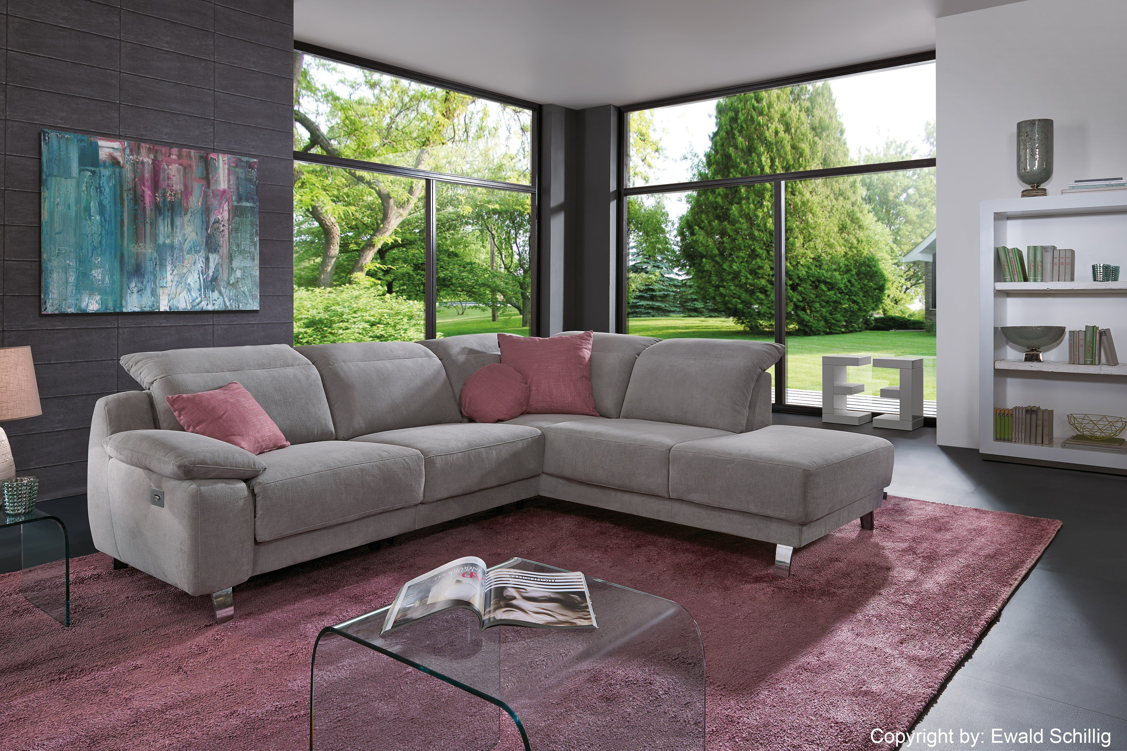 ewald schillig eckgarnitur lexington hellgrau m bel letz ihr online shop. Black Bedroom Furniture Sets. Home Design Ideas