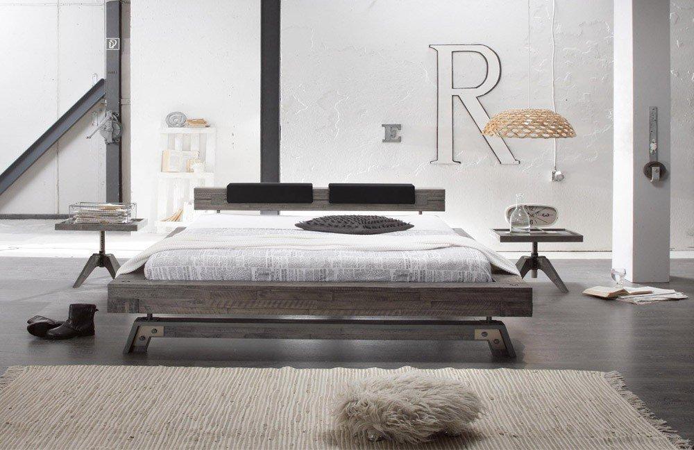 hasena factory line stabil bett akazie grey m bel letz ihr online shop. Black Bedroom Furniture Sets. Home Design Ideas