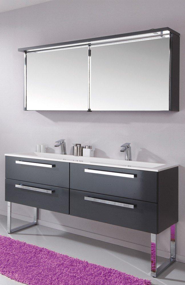 Badezimmer star line anthrazit hochglanz von puris m bel for Badezimmer konfigurator