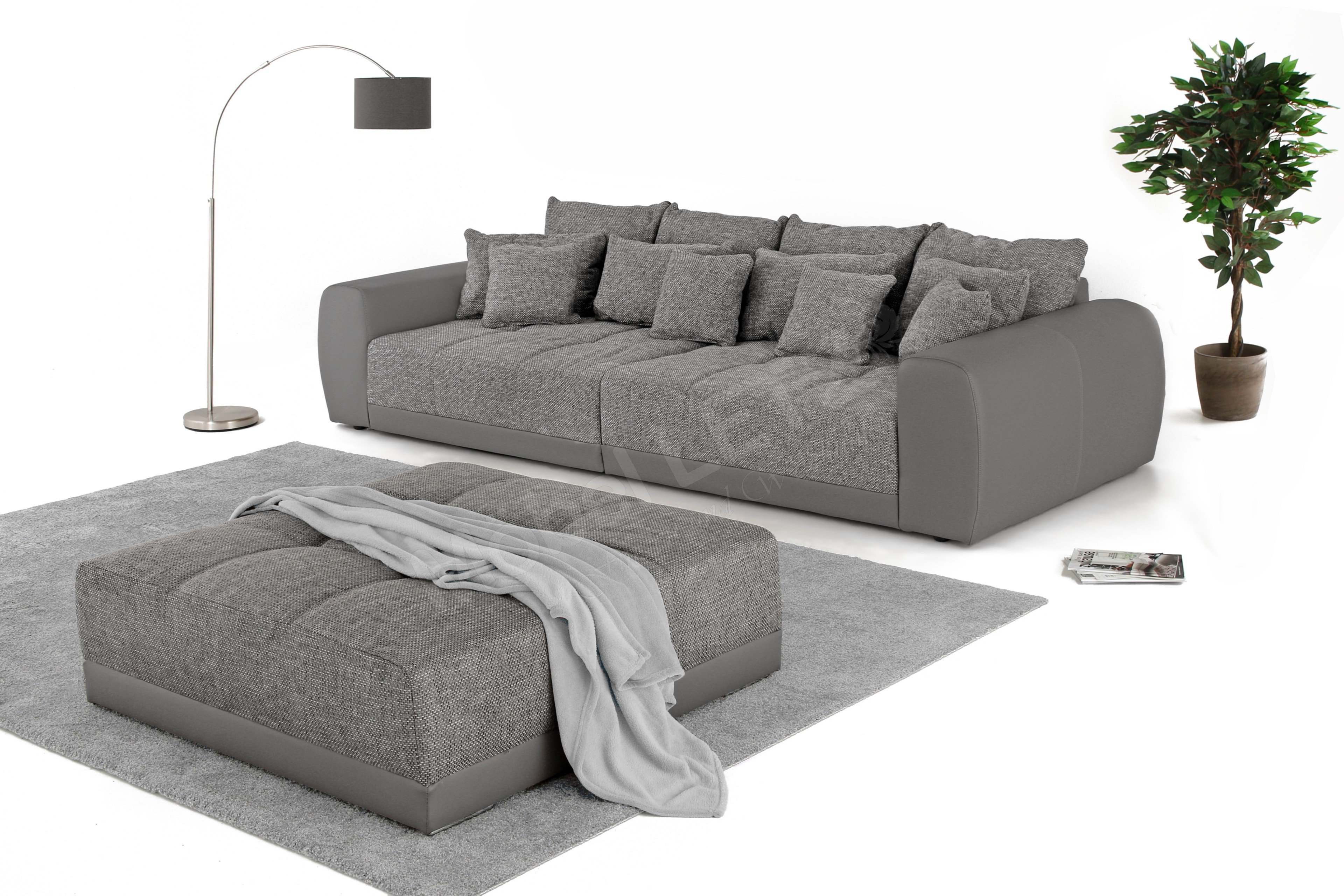 jockenh fer big sofa samy in grau m bel letz ihr online shop. Black Bedroom Furniture Sets. Home Design Ideas