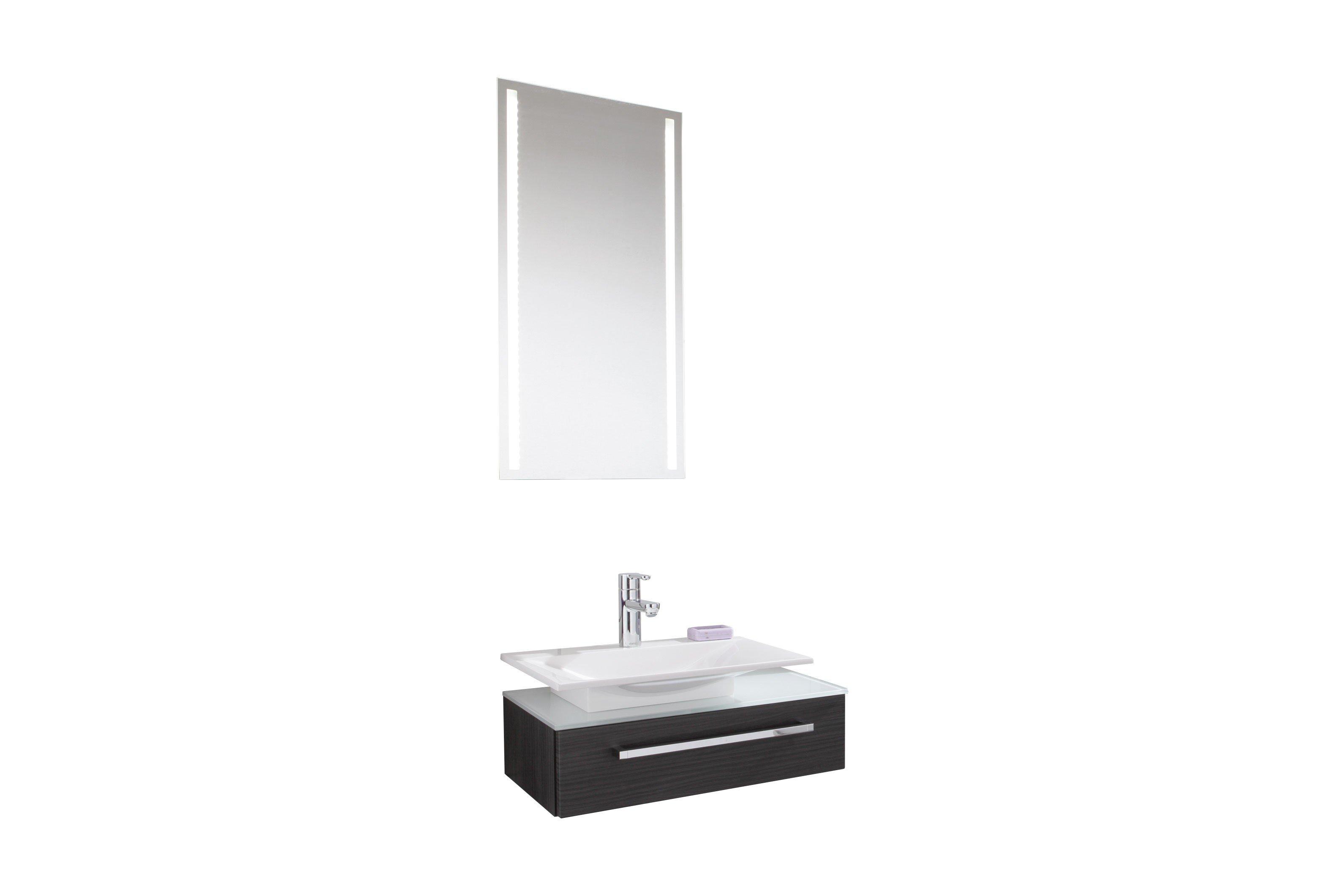 badezimmer for guests schwarz von puris m bel letz ihr. Black Bedroom Furniture Sets. Home Design Ideas