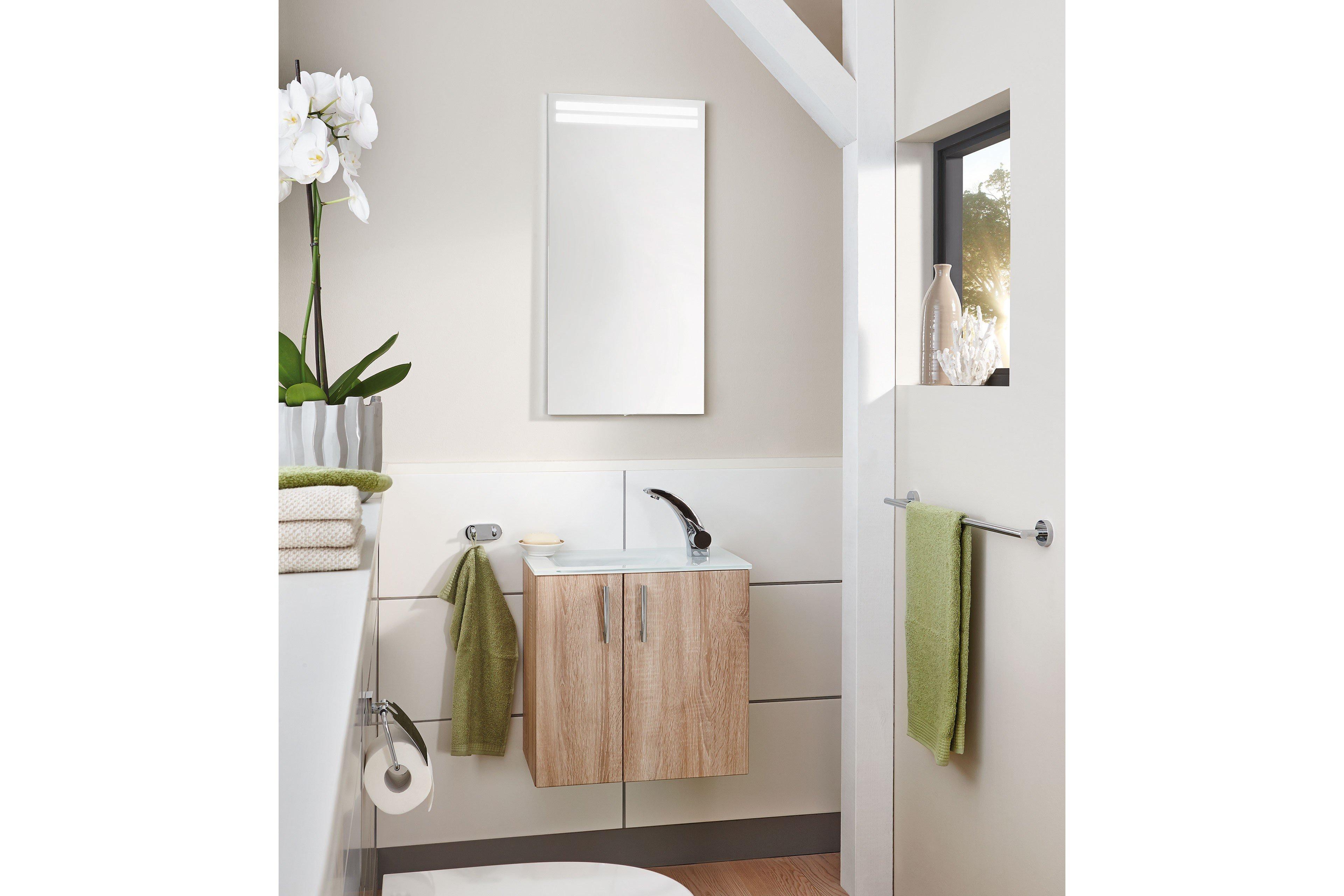 badezimmer for guests eiche hell von puris m bel letz ihr online shop. Black Bedroom Furniture Sets. Home Design Ideas