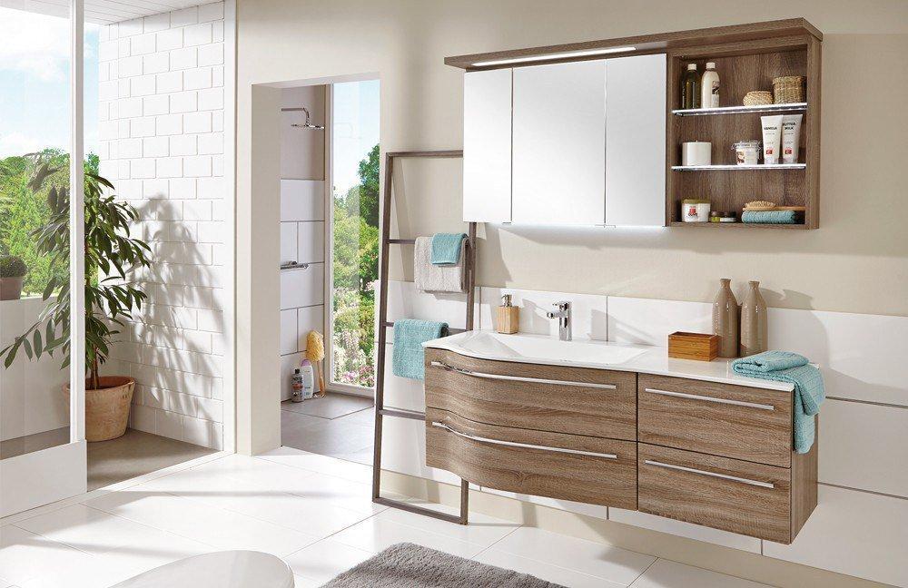 badezimmer swing von puris in eiche trüffel | möbel letz - ihr, Badezimmer