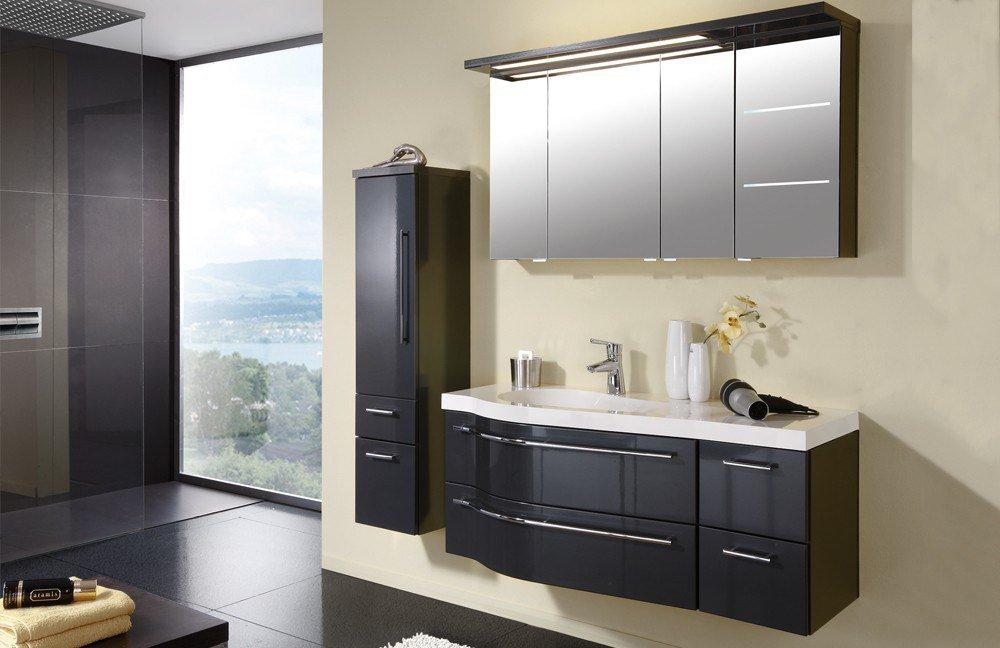 Badezimmer swing von puris in anthrazit hochglanz m bel letz ihr online shop - Badezimmer anthrazit ...
