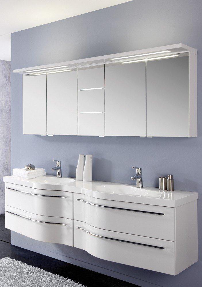 Badezimmer swing polarwei hochglanz von puris m bel for Badezimmer konfigurator