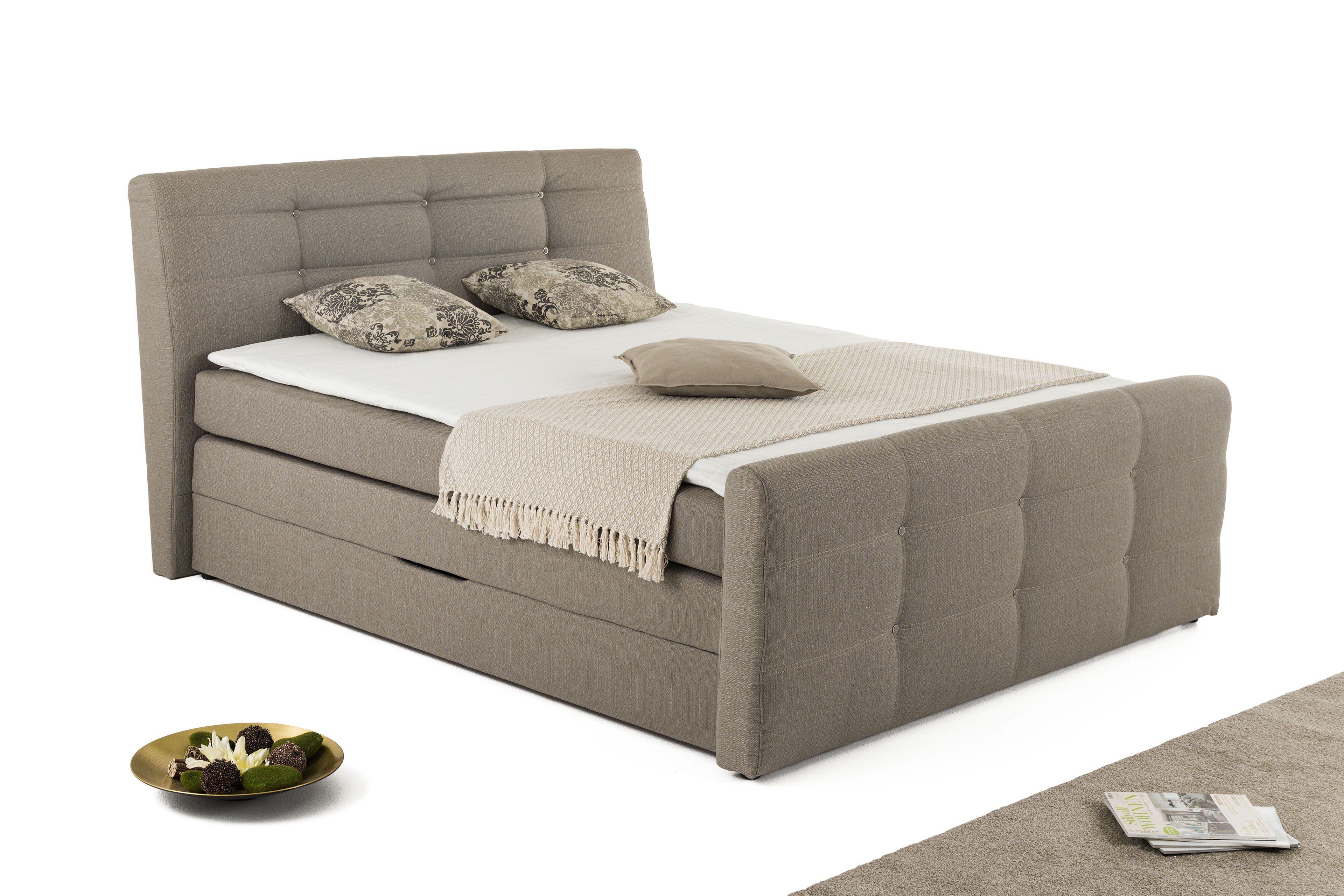 jockenh fer granada leia boxspringbett in beige m bel. Black Bedroom Furniture Sets. Home Design Ideas