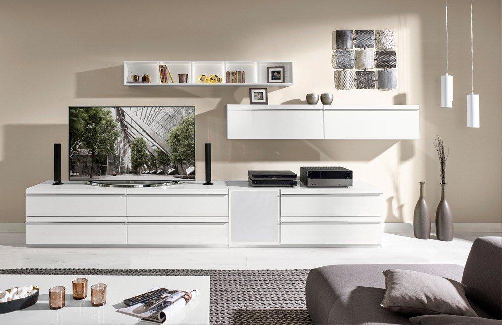 wohnwand media 5000 v9756 wei von loddenkemper m bel letz ihr online shop. Black Bedroom Furniture Sets. Home Design Ideas