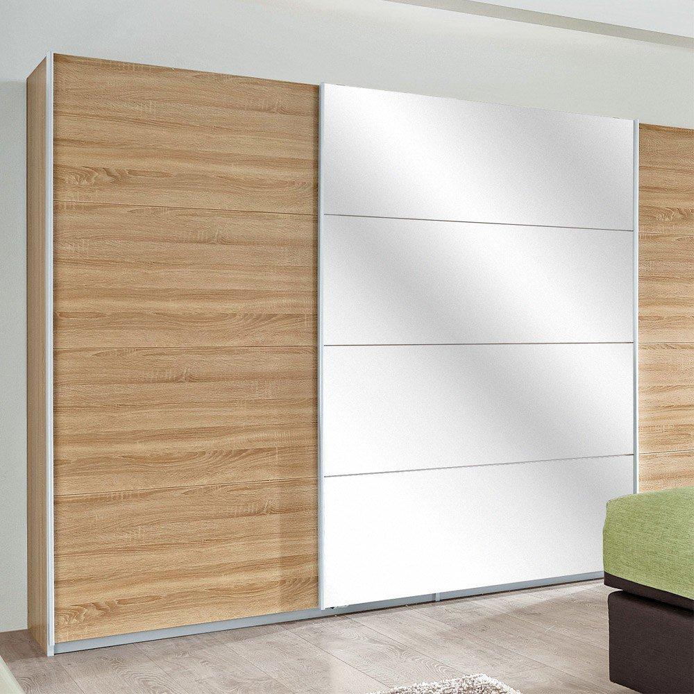 Rauch Quadra Kleiderschrank Eiche - weiß | Möbel Letz - Ihr Online-Shop