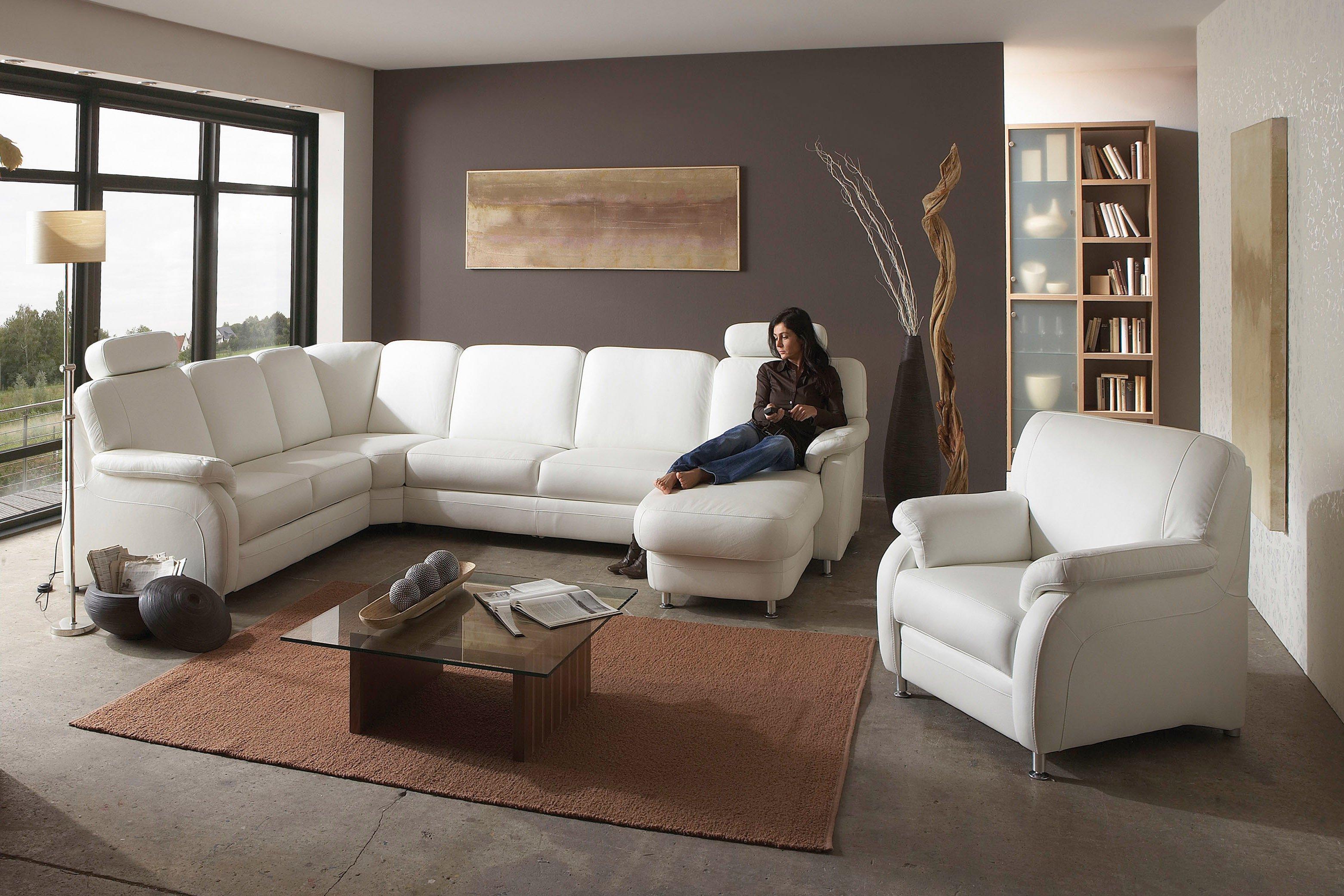 polinova polsterm bel tavira l polstergarnitur wei. Black Bedroom Furniture Sets. Home Design Ideas