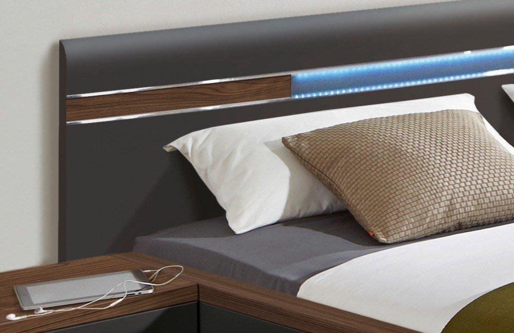 Nolte Deseo Schlafzimmer Nussbaum-graphit   Möbel Letz - Ihr Online-Shop