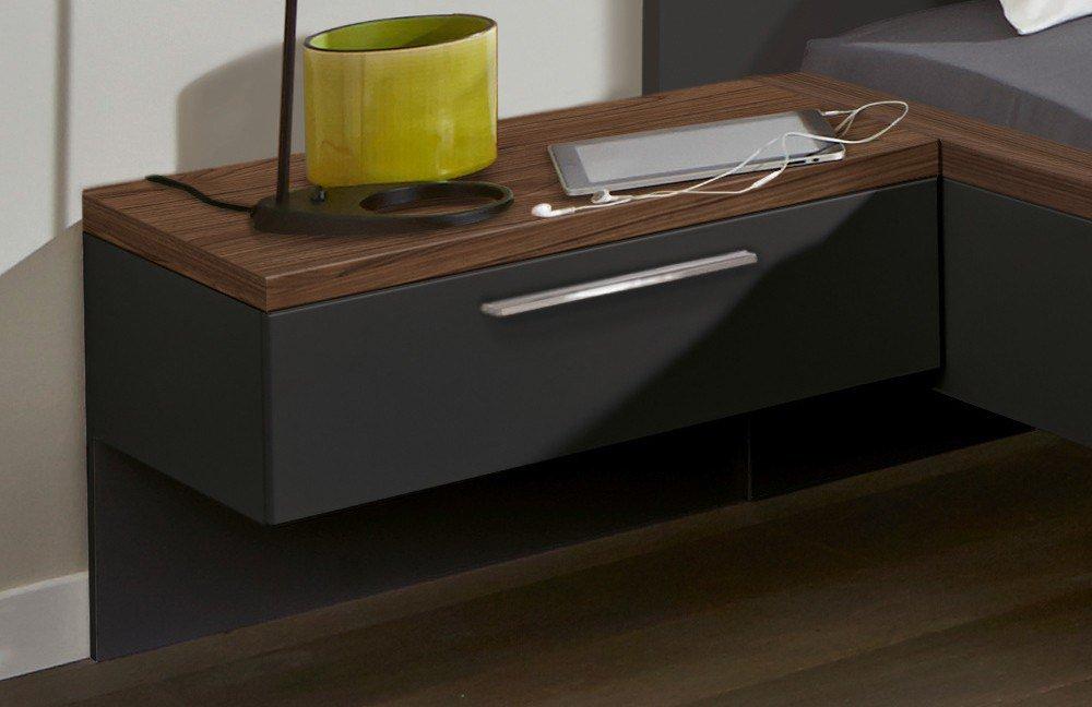 nolte deseo schlafzimmer nussbaum graphit m bel letz ihr online shop. Black Bedroom Furniture Sets. Home Design Ideas