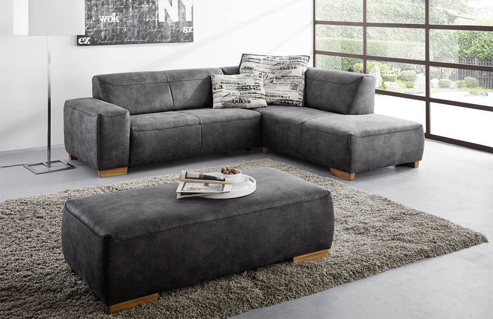 ecksofa leder anthrazit inspirierendes. Black Bedroom Furniture Sets. Home Design Ideas