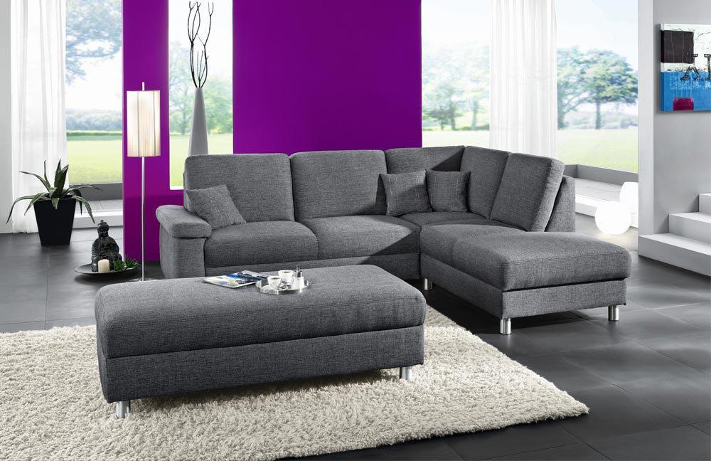 Pora Polstermöbel Monaco Eckcouch grau | Möbel Letz - Ihr Online-Shop