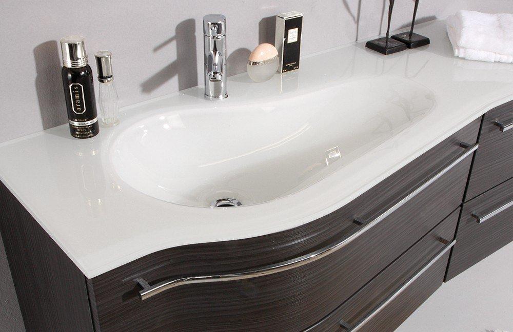 glaswaschtisch swing von puris badezimmer in wenge mit unterschrank gaste wc