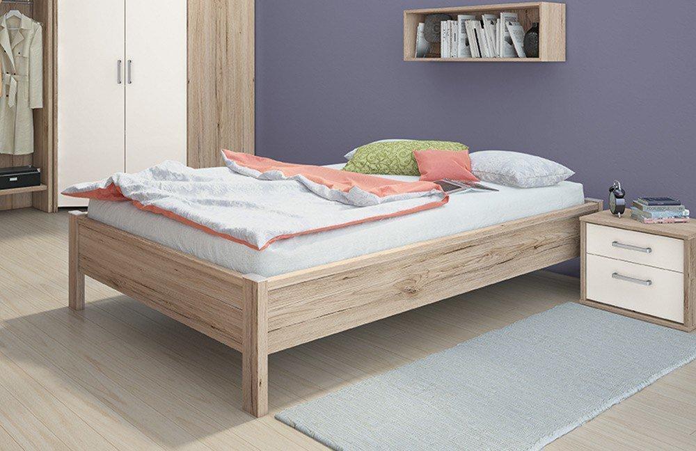 Goalani Kleiderschrank Regal und Bett kombination