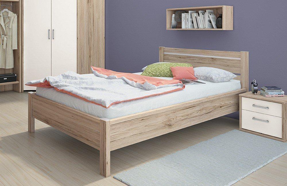 futonbett kopfteil top versprht charme und das bett mera aus natrlich lackiertem buchenholz. Black Bedroom Furniture Sets. Home Design Ideas