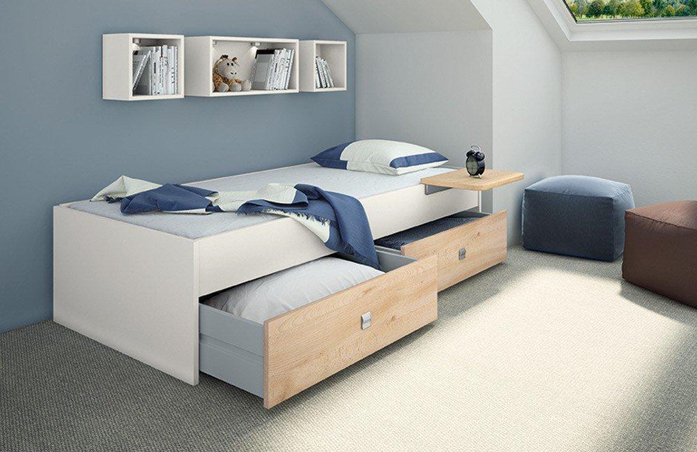 Priess Luna Kastenbett weiß - Buche   Möbel Letz - Ihr Online-Shop