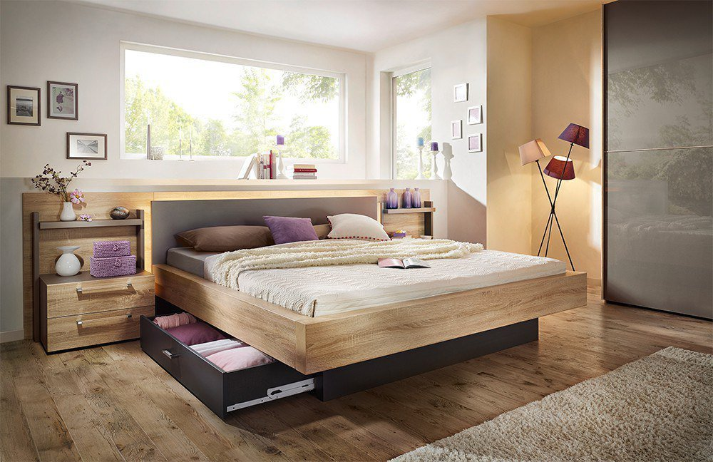 nolte m bel lanova bett sonoma eiche m bel letz ihr online shop. Black Bedroom Furniture Sets. Home Design Ideas