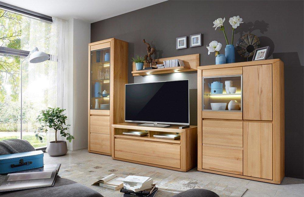 ideal m bel wohnwand korsika 01 kernbuche m bel letz ihr online shop. Black Bedroom Furniture Sets. Home Design Ideas