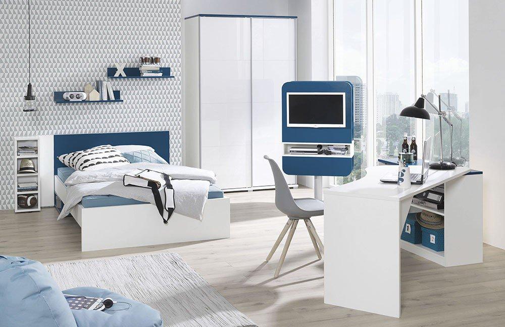 jugendzimmer jungs grau blau kreative ideen ber home design. Black Bedroom Furniture Sets. Home Design Ideas
