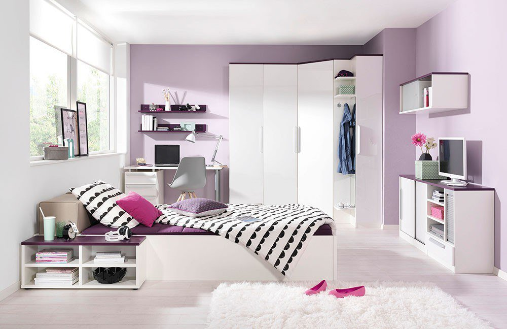 wellem bel cover jugendzimmer wei lila m bel letz ihr. Black Bedroom Furniture Sets. Home Design Ideas