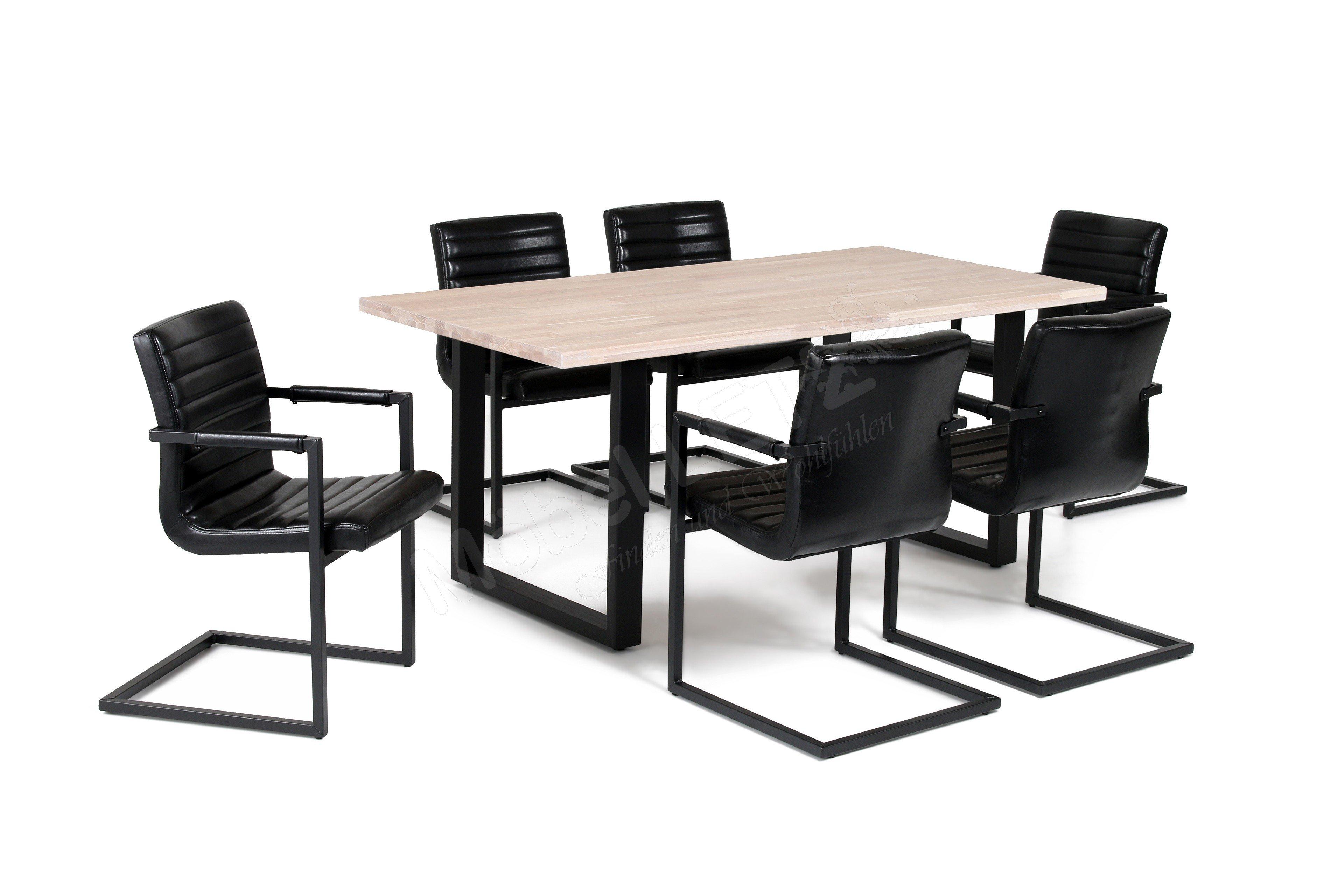 esstisch miami beach eiche bianco u gestell m bel letz ihr online shop. Black Bedroom Furniture Sets. Home Design Ideas