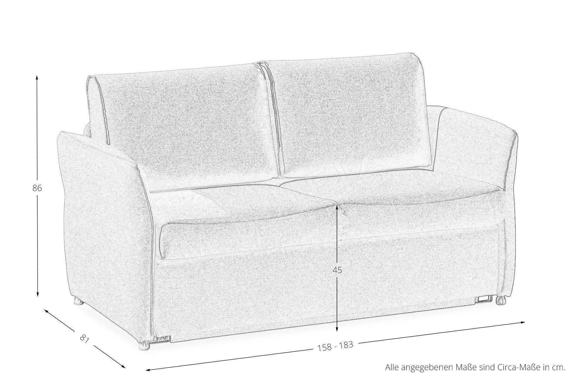 restyl bonnie schlafsofa in rot mit bettkasten m bel letz ihr online shop. Black Bedroom Furniture Sets. Home Design Ideas